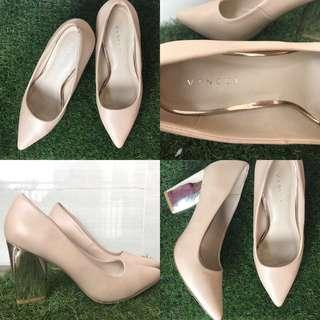 Vincci Heels Nude/ Khaki/ Cream