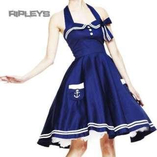 Hell Bunny Blue sailor dress