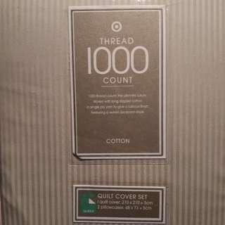 Ultimate Luxury 1000 TC Cotton Quilt CoverSet