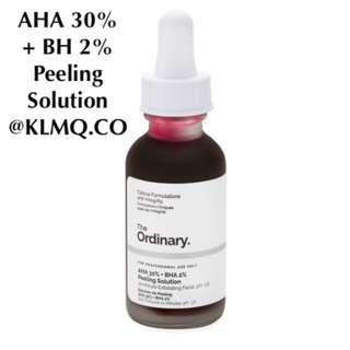 AHA 30% + BHA 2% Peeling Solution THE ORDINARY