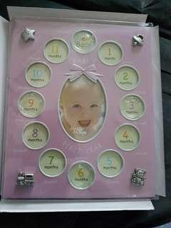 NEw! 12 Months Baby Photo Frame
