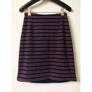 日牌🇯🇵Heather條紋合身兩面穿窄裙