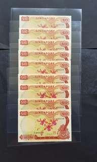 胡姬$10   9張連号