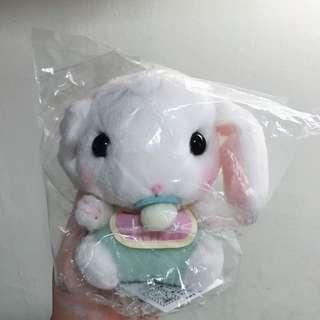 WHITE BABY LOPPY WITH PACIFIER