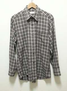 🚚 🔥古著 咖啡色 格子 格紋 長袖 襯衫 上衣 休閒 百搭 稀有 老品 復古 Vintage