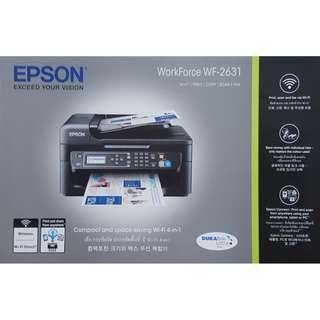 BRAND NEW Epson Fax Machine Workforce WF-2631 Wireless 4 in 1 Printer cum Fax