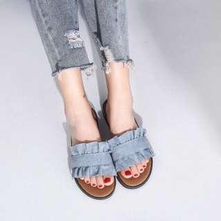 Blue frills Sandals
