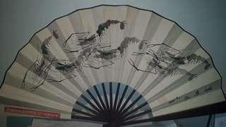 Old  3 sets of hand fan wonderful arts work a good collectable