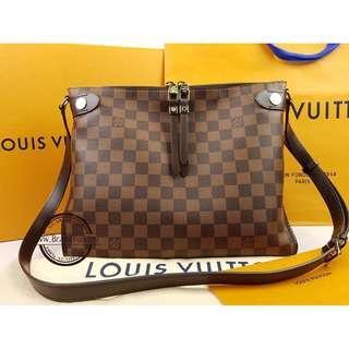 Authentic Louis Vuitton Damier Ebene Duomo Crossbody N41425 LV
