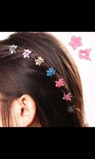 Instock! Brand New 10pcs Cute Multi Flower Plastic Mini Claw Girls Hairclip Hairpin Clamp