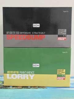 Transformers Masterpiece Badcube OTS-11 Speedbumb Trailbreaker and OTS-12 Lorry Hoist