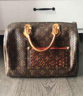 LV Speedy 30 Perforated Orange Limited Edition