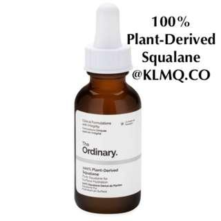 100% Plant-Derived Squalane THE ORDINARY