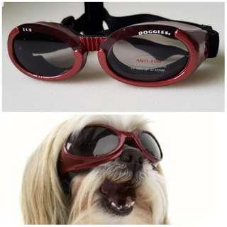 DOGGLES Eyewear for Dogs - Small - Metallic Red Frame with Smokey Lens