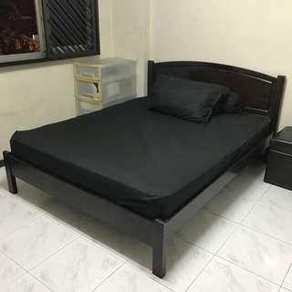 Used bedframe in dark wood