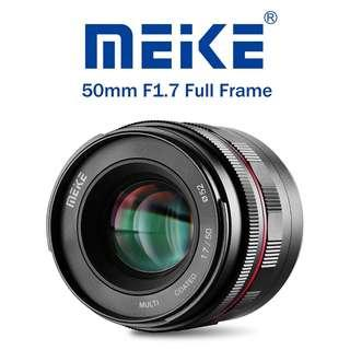 Meike MK 50mm f1.7 Large Aperture Manual Focus Lens for Sony E-mount with Full Frame