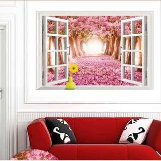 wall stickers 3D adornment Creative simulation window
