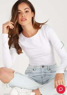*BRAND NEW* WHITE CROPPED LONG SLEEVE