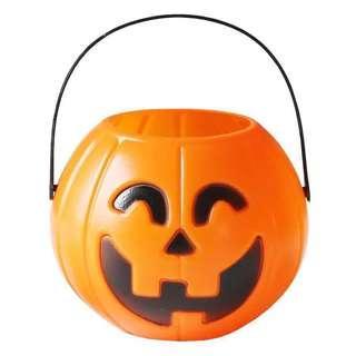 mini pumpkin candy basket
