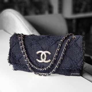 Authentic Chanel Canvas Flap Bag