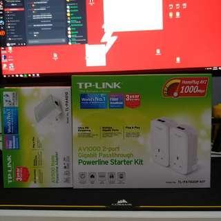 TP-Link av1000 powerline starter kit & more