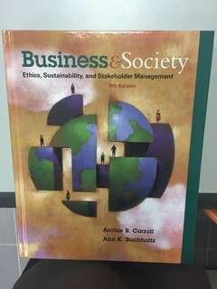 Business & Society: Ethics, Sustainability & Stakeholder Management #3x100
