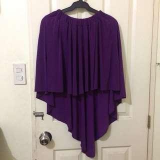 fab purple asymmetrical skirt