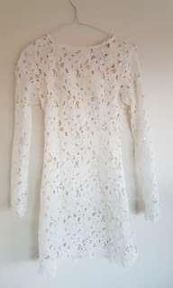Lace dress white size 6