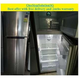 Samsung (322L), 2doors refrigerator /  fridge ($320 + free delivery and 2mths warranty)