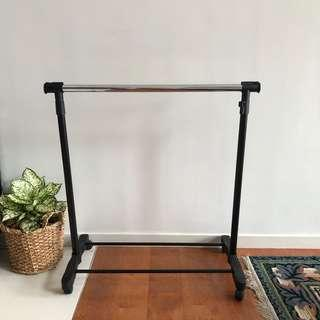 Clothing Rack with adjustable rolling rails