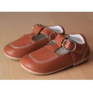 Kid Brown PU Leather Shoes