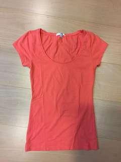 🚚 #九月女裝半價  澳洲購回 橘粉素色純棉上衣