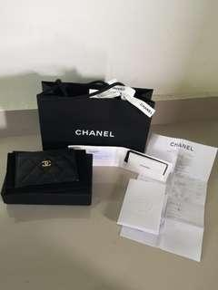 Authentic Chanel Cardholder in Caviar Leather