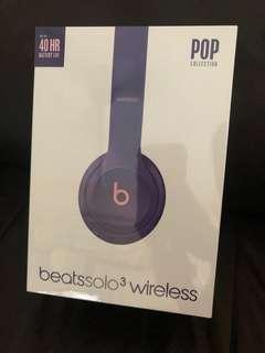 Beats Wireless Solo3 Headphones Pop Violet