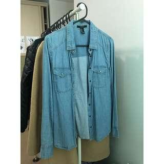 Forever 21 Soft Denim Button-up (Size S)