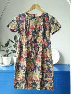 Vintage floral mini dress
