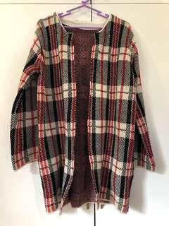 Winter Long Coat Checkered