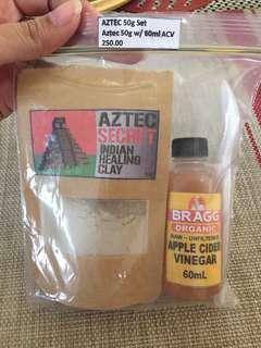 Aztec Secret Indian Healing Clay and Bragg Organic ACV Trial Pack