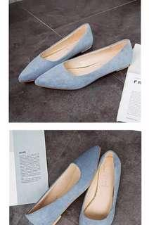 Light Blue Pointed Flats