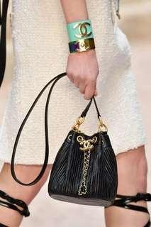 Chanel Mini Drawstring Bucket Bag