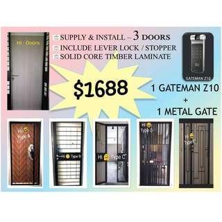 Timber Door / Metal Gate