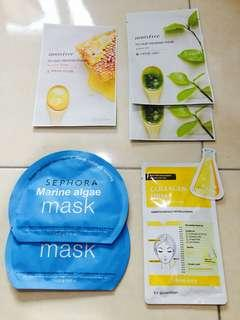 Face mask bundle (Innisfree, Sephora & Guardian)