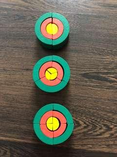 Pre-loved wooden toys to teach fractions
