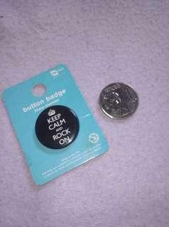 Keep Calm button badge