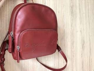 Agnès b. Voyage leather backpack FW17 small/red