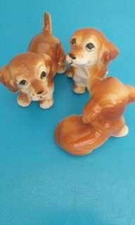 Vintage puppies for display
