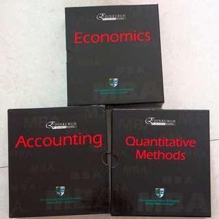 MBA Course materials - Accounting, Economics, Quantitative Methods