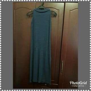 Turtle Neck Long Dress