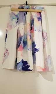 Watercolour Midi skirt size 10