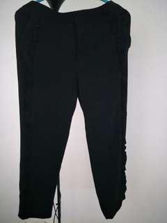 ZARA WOMEN BLACK TROUSERS